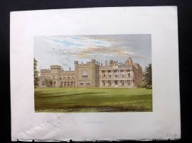 Morris Sears C1870 Antique Print. Knowsley Hall